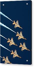 Acrylic Print featuring the photograph Thunderbirds  by Karen Musick