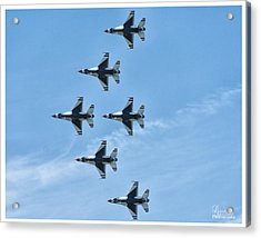 Acrylic Print featuring the photograph Thunderbirds by Linda Constant