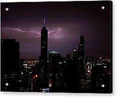 Thunderbolts Across The Sky Acrylic Print