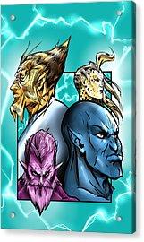 Thundercat Fan Art Acrylic Print by Mikey Martinez
