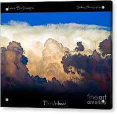 Thunderhead Cloud Color Poster Print Acrylic Print by James BO  Insogna