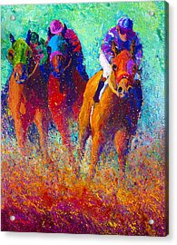 Thundering Hooves Acrylic Print by Marion Rose