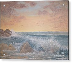 Thundering Sea Acrylic Print