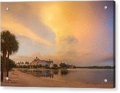 Thunderstorm Over Disney Grand Floridian Resort Acrylic Print