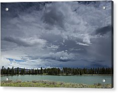 Thunderstorm Over Indian Pond Acrylic Print