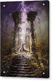Thunderstorm Wizard Acrylic Print