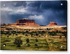 Thunderstorms Approach A Mesa Acrylic Print
