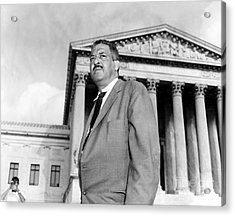 Thurgood Marshall Acrylic Print