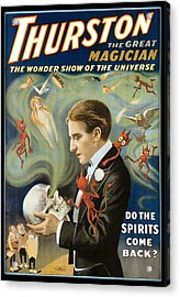 Thurston The Great Magician Acrylic Print by Unknown