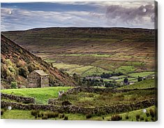 Thwaite Barn Acrylic Print by Yorkshire In Colour