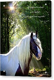 Thy Word Is Acrylic Print by Terry Kirkland Cook