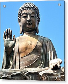 Tian Tan Buddha Acrylic Print by Joe  Ng