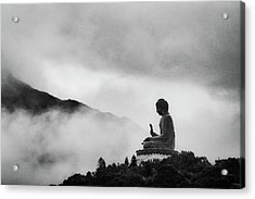 Tian Tan Buddha Acrylic Print by picture by Chris Kench Photography