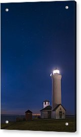 Acrylic Print featuring the photograph Tibbets Point Light Night by Mark Papke