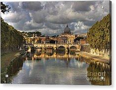 Tiber River Acrylic Print