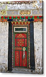 Tibet Red Door Acrylic Print