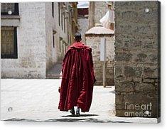 Tibetan Monk Acrylic Print by Kalpana Geisenheyner