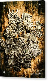 Tibetan Owl Charms Acrylic Print by Jorgo Photography - Wall Art Gallery