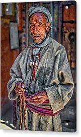 Tibetan Refugee Acrylic Print by Steve Harrington