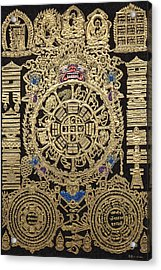 Tibetan Thangka - Tibetan Astrological Diagram Acrylic Print