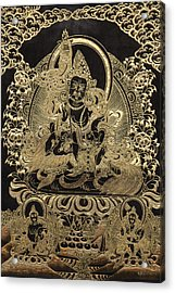 Tibetan Thangka - Vaishravana - God Of Wealth And Regent Of The North Acrylic Print