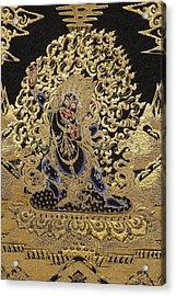 Tibetan Thangka - Vajrapani - Protector And Guide Of Gautama Buddha Acrylic Print by Serge Averbukh