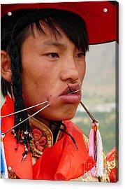Tibetan Tradition Acrylic Print by Cris Motta