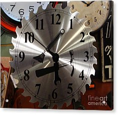 Acrylic Print featuring the painting Tick Tock Tick Tock by Rod Jellison