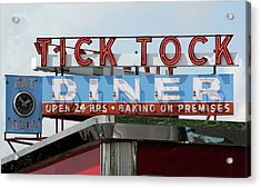 Acrylic Print featuring the photograph Tick Tock Diner by Matthew Bamberg