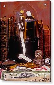 Ticker Tape Machine Acrylic Print by Garry Gay