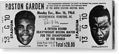 Ticket To World Championship Boxing Acrylic Print by Everett