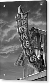 Acrylic Print featuring the photograph Tickets Bw by Laura Fasulo