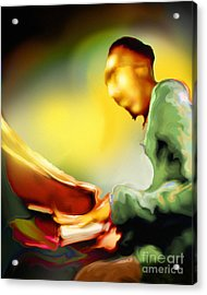 Tickl'n Acrylic Print by Mike Massengale