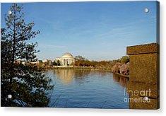Tidal Basin And Jefferson Memorial Acrylic Print by Megan Cohen