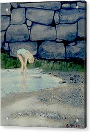 Tidal Pool Treasures Acrylic Print by Anthony Ross