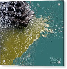 Acrylic Print featuring the photograph Tidal Stand Off by Bill Thomson