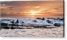 Acrylic Print featuring the photograph Tidal Sunset by Heather Applegate