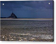 Tide In Mont Saint-michel Bay Acrylic Print