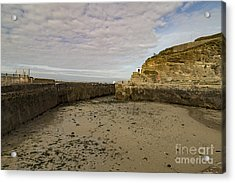 Acrylic Print featuring the photograph Tide Out Portreath by Brian Roscorla