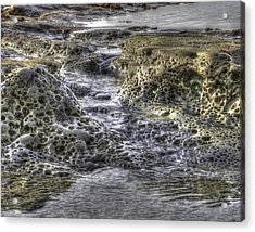 Tide Pool Waterfall Acrylic Print