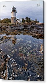 Tide Pools At Marshall Point Lighthouse Acrylic Print