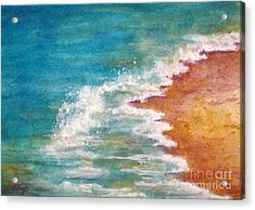 Tide Rushing In Acrylic Print