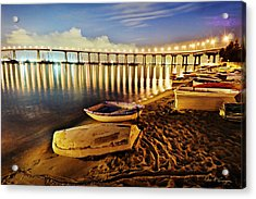 Tidelands Taxis Acrylic Print
