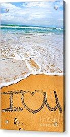 Tides Of Romance Acrylic Print by Jorgo Photography - Wall Art Gallery