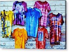 Grateful Dead Tie Dye Acrylic Print by Susan Carella