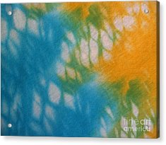 Tie Dye In Yellow Aqua And Green Acrylic Print by Anna Lisa Yoder