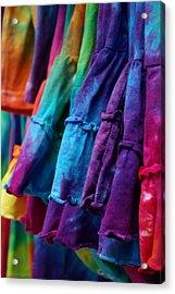 Tie Dyed  Acrylic Print by Linda Mishler