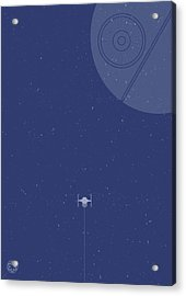 Tie Fighter Defends The Death Star Acrylic Print