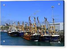 Tied Up At Kilmore Quay - Wexford Acrylic Print