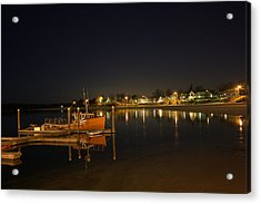 Acrylic Print featuring the photograph Tied Up For The Night by Greg DeBeck